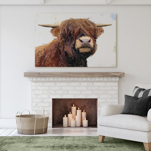 """Henry"" The Highland Bull Massive Canvas Print"