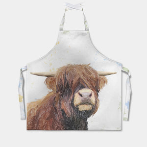 """Henry"" The Highland Bull Apron - Andy Thomas Artworks"