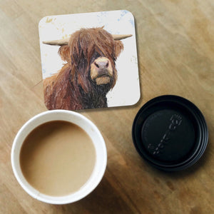 """Henry"" The Highland Bull Coaster - Andy Thomas Artworks"