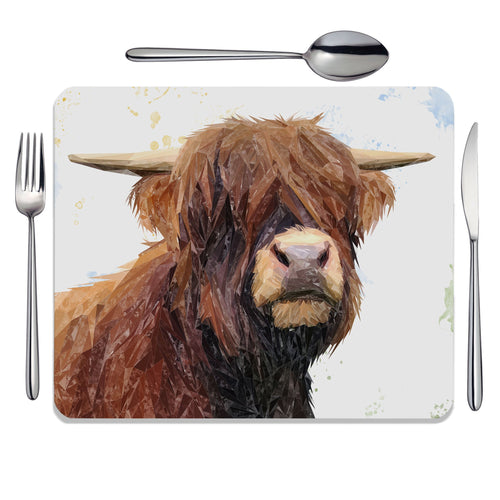 """Henry"" The Highland Bull Placemat"