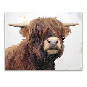 """Henry"" The Highland Bull Skinny Canvas Print - Andy Thomas Artworks"