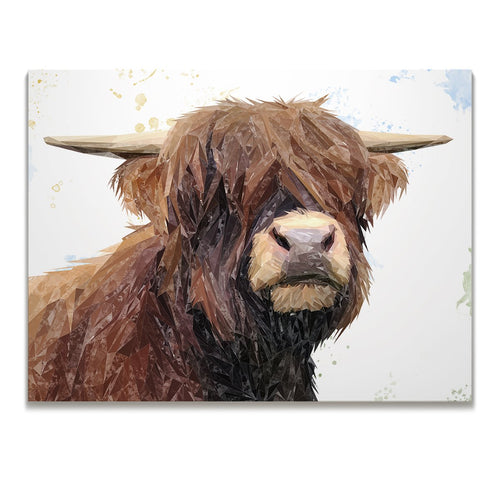 """Henry"" The Highland Bull Skinny Canvas Print"