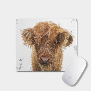 """Peeps"" The Highland Calf Mousemat - Andy Thomas Artworks"