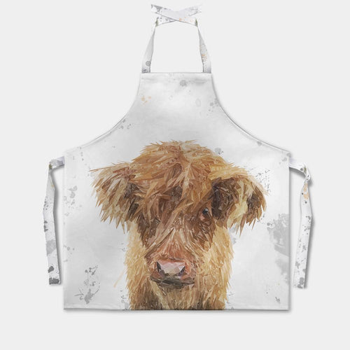 """Peeps"" The Highland Calf Apron"