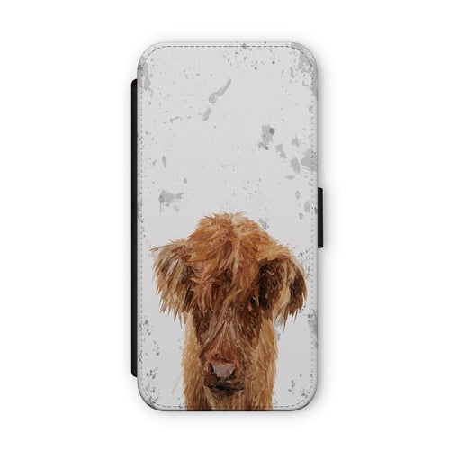 """Peeps"" The Highland Calf Flip Phone Case"