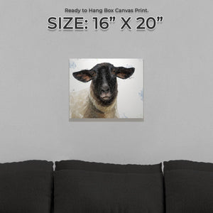 """The Suffolk"" Suffolk Sheep Small Canvas Print - Andy Thomas Artworks"