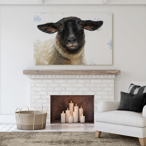 """The Suffolk"" Suffolk Sheep Massive Canvas Print"