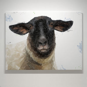 """The Suffolk"" Suffolk Sheep Canvas Print - Andy Thomas Artworks"