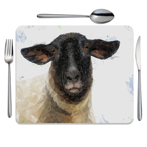 """The Suffolk"" Suffolk Sheep Placemat - Andy Thomas Artworks"