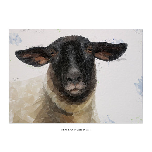 """The Suffolk"" Suffolk Sheep 5x7 Mini Print"