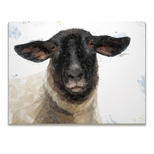 """The Suffolk"" Suffolk Sheep Skinny Canvas Print"