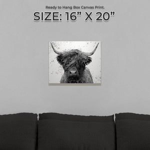 """The Highland"" (B&W) Small Canvas Print - Andy Thomas Artworks"