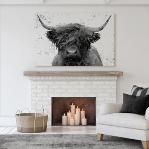 """The Highland"" (B&W) Canvas Print - Andy Thomas Artworks"