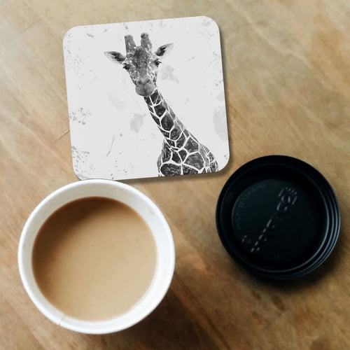 """George"" The Giraffe (B&W) Coaster"