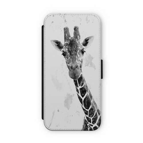 """George"" The Giraffe (B&W) Flip Phone Case"