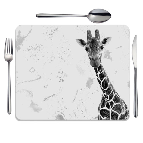 """George"" The Giraffe (B&W) Placemat"