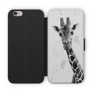 """George"" The Giraffe (B&W) Flip Phone Case - Andy Thomas Artworks"