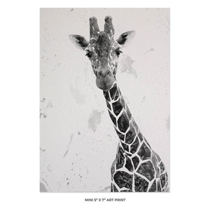 """George"" The Giraffe (B&W) 5x7 Mini Print - Andy Thomas Artworks"