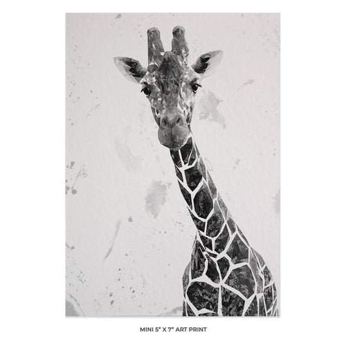 """George"" The Giraffe (B&W) 5x7 Mini Print"