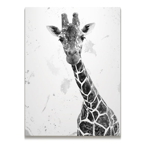 """George"" The Giraffe (B&W) Skinny Canvas Print"