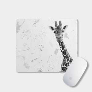"""George"" The Giraffe (B&W) Mousemat - Andy Thomas Artworks"