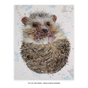 """Milton"" The Hedgehog 10"" x 8"" Unframed Art Print - Andy Thomas Artworks"