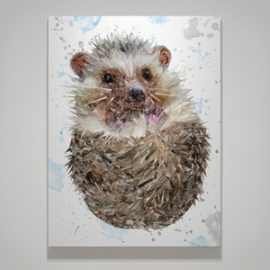 """Milton"" The Hedgehog Small Canvas Print - Andy Thomas Artworks"