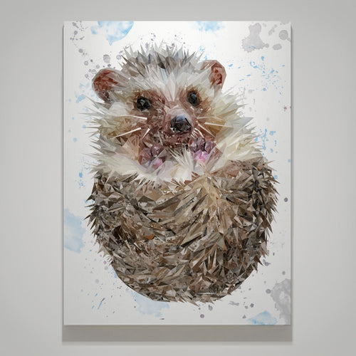 """Milton"" The Hedgehog Small Canvas Print"