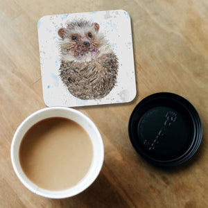 """Milton"" The Hedgehog Coaster - Andy Thomas Artworks"