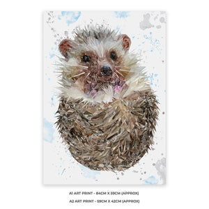 """Milton"" The Hedgehog A1 Unframed Art Print - Andy Thomas Artworks"