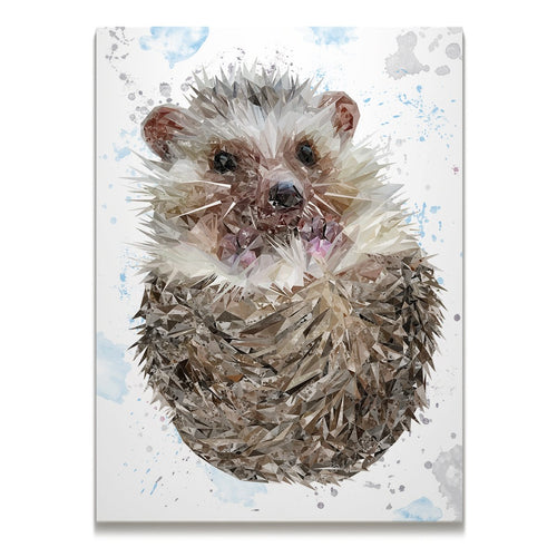 """Milton"" The Hedgehog Skinny Canvas Print"