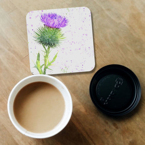 The Thistle (Portrait) Coaster