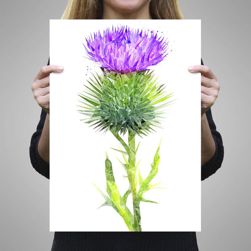 The Thistle (Portrait) Unframed Art Print