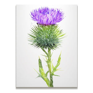 The Thistle (Portrait) Skinny Canvas Print