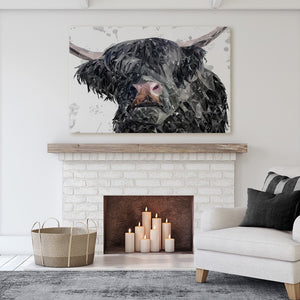 """Bruce"" The Highland Bull Canvas Print - Andy Thomas Artworks"