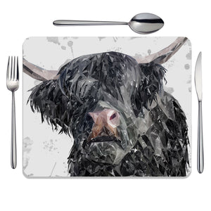 """Bruce"" The Highland Bull Placemat - Andy Thomas Artworks"