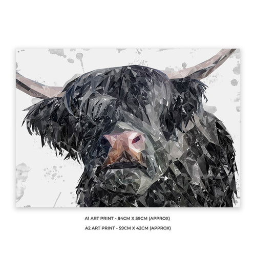 """Bruce"" The Highland Bull A1 Unframed Art Print"