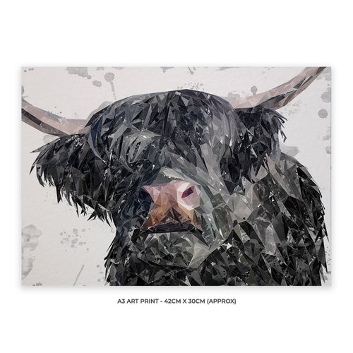 """Bruce"" The Highland Bull A3 Unframed Art Print"