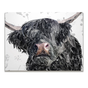 """Bruce"" The Highland Bull Skinny Canvas Print - Andy Thomas Artworks"
