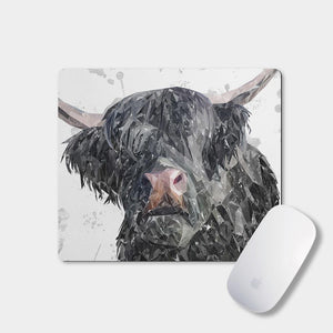 """Bruce"" The Highland Bull Mousemat - Andy Thomas Artworks"