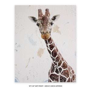 """George"" The Giraffe 10"" x 8"" Unframed Art Print - Andy Thomas Artworks"