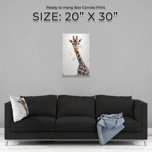 """George"" The Giraffe Medium Canvas Print"