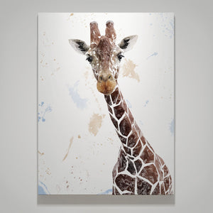 """George"" The Giraffe Large Canvas Print - Andy Thomas Artworks"