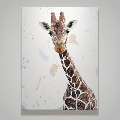 """George"" The Giraffe Large Canvas Print"