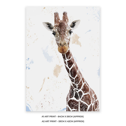 """George"" The Giraffe A2 Unframed Art Print"