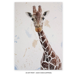 """George"" The Giraffe A3 Unframed Art Print - Andy Thomas Artworks"