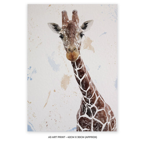 """George"" The Giraffe A3 Unframed Art Print"