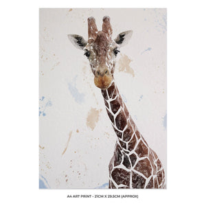 """George"" The Giraffe A4 Unframed Art Print - Andy Thomas Artworks"
