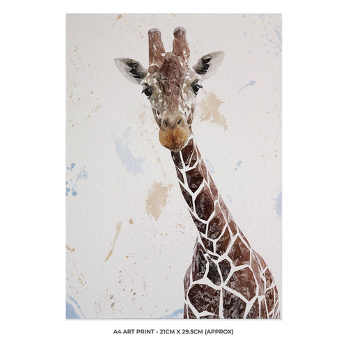 """George"" The Giraffe A4 Unframed Art Print"