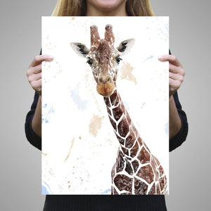 """George"" The Giraffe A2 Unframed Art Print - Andy Thomas Artworks"